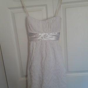 Ruby Rox white Eyelet dress size 9
